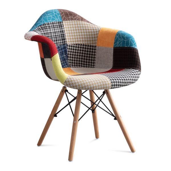 sillas tapizadas patchwork